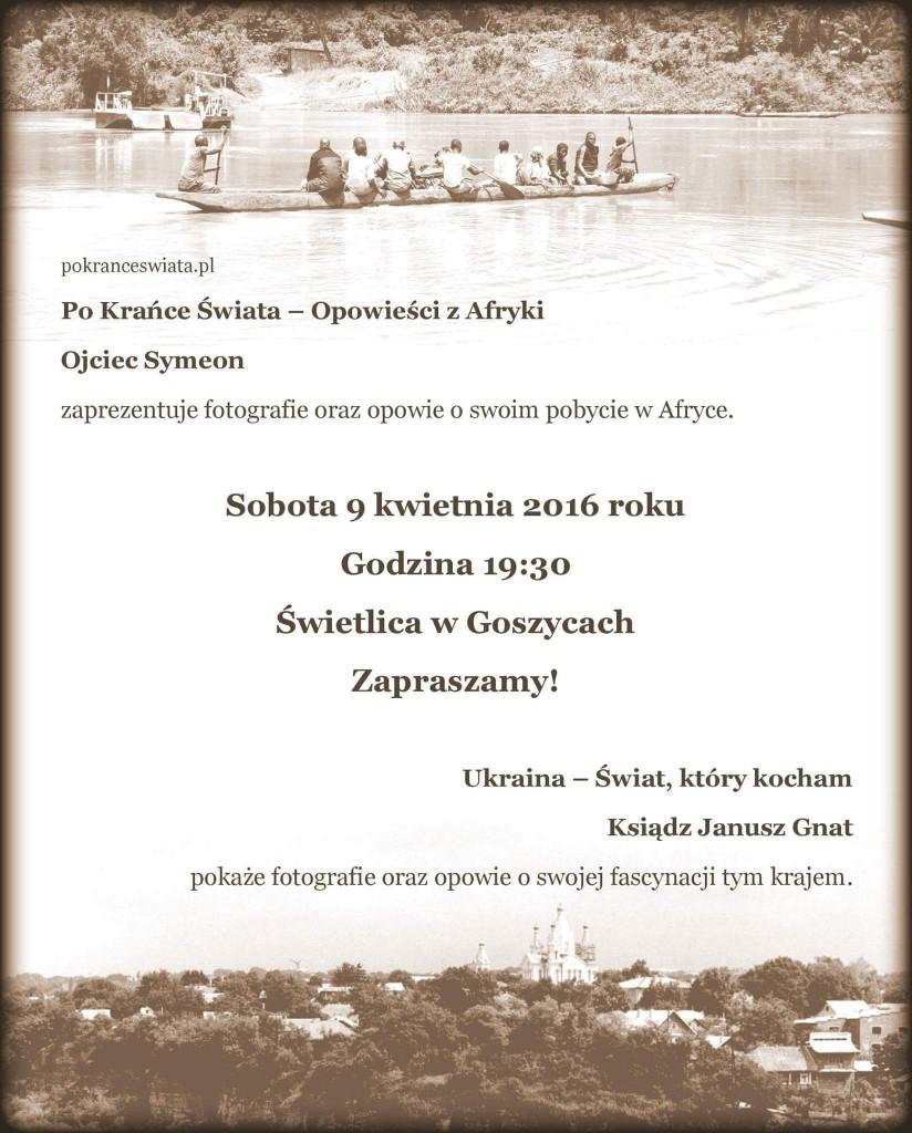 Prelekcja w Goszycach