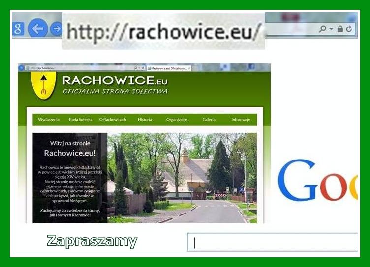 Wizytowka strony Rachowic